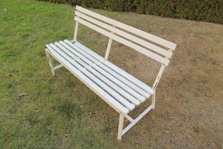 white metal: White metal benches in gardens