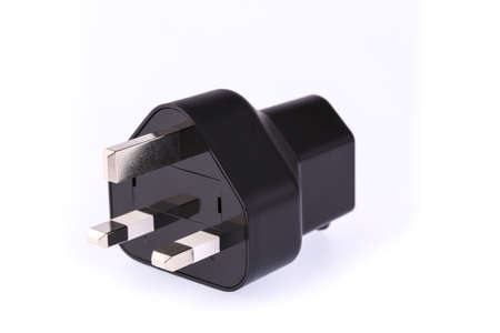 socket adapters: Electrical adapter isolated on white background.