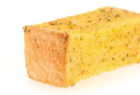 palatable: Garlic bread isolated on white background
