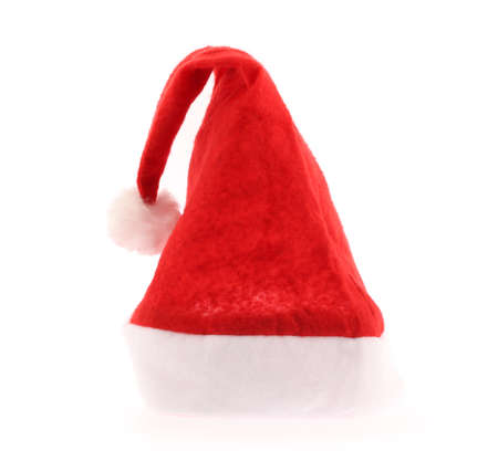red hat: Santa Claus red hat isolated on white background Stock Photo