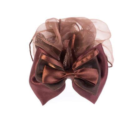 bow hair: Arco del pelo aislado en el fondo blanco Foto de archivo