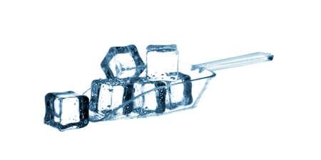 plastic scoop: Plastic Scoop of Ice isolated on white background