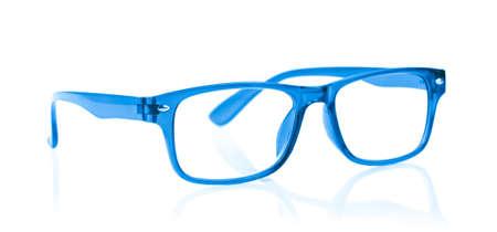 limpid: Blue Eye Glasses Isolated on White background