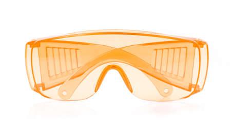 orange glasses isolated on white background.