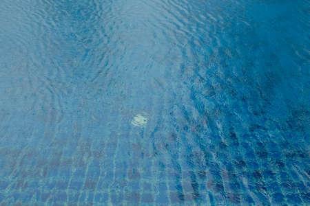 undulate: Blue swimming pool rippled water detail