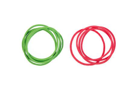 rubberband: Elastic bands isolated on white background