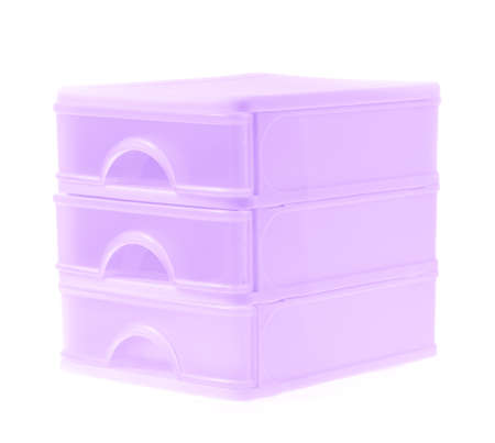 drawers: plastic drawers isolated on a white background