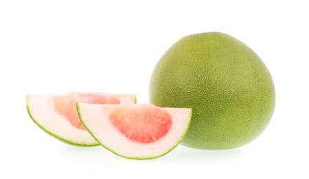 freshest: Fresh of pomelo fruit isolated on white background