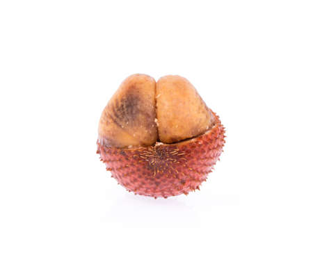 salak: Salak fruit, Salacca zalacca isolated on white background