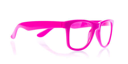 myopic: purple glasses isolated on a white background.