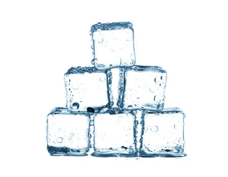 refrigerate: ice cube Isolated on white background