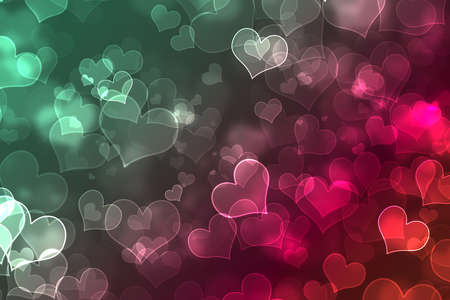 Abstract multicolored elegant background with glitter and heart