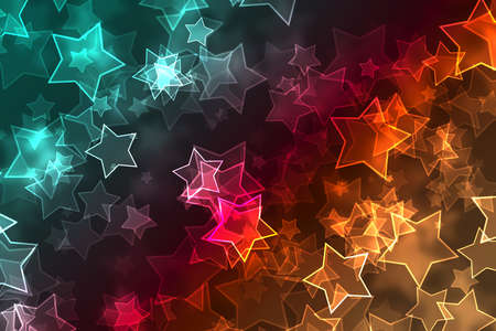 flit: Multicolored defocused bokeh with lights and stars