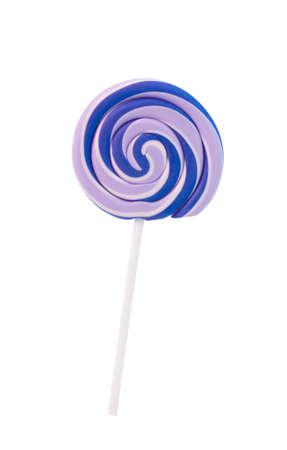 sugarplum: lollipop Isolated on white background. Stock Photo