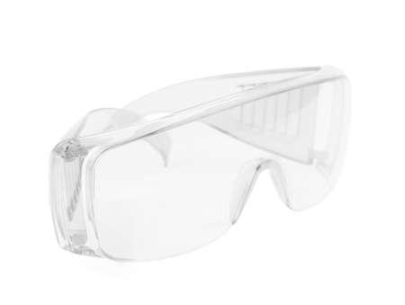 myopia: glasses isolated on white background