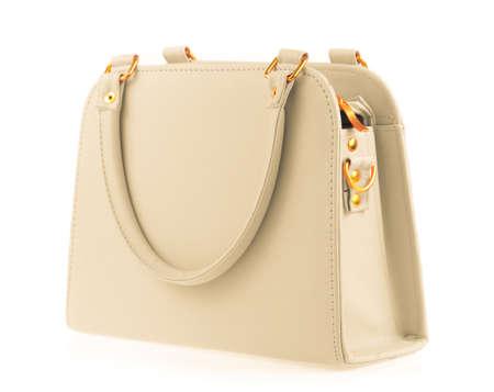 capacious: women handbag isolated on white background