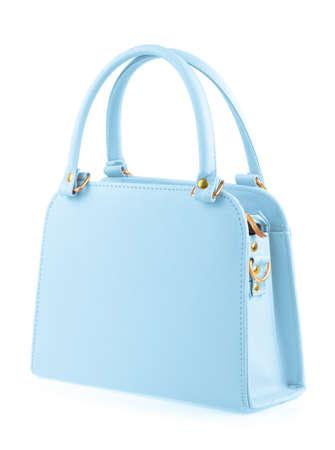 capacious: Blue women bag isolated on white background