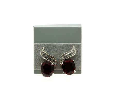 inlaid: Beautiful of earrings inlaid with gemstones