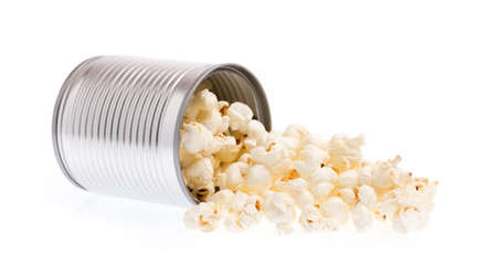 aluminium can: aluminium can of Pop corn isolated on white background.