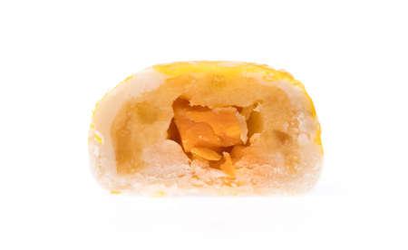 slice Mochi Sweets isolated on white background Imagens