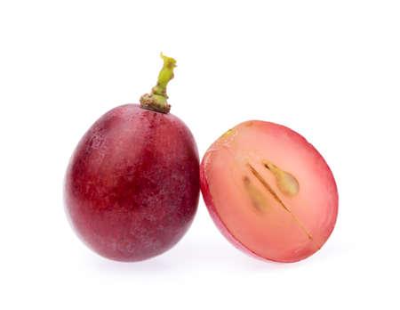 Tranche de raisin isolé sur fond blanc Banque d'images - 65806048