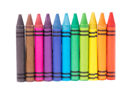 crayon isolated on white background 스톡 콘텐츠