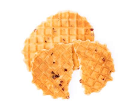 waffle isolated on white background Stock Photo