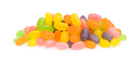 jelly bean candies isolated on white background Reklamní fotografie