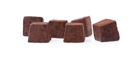 分離に白い背景に、チョコレート ・ トリュフ
