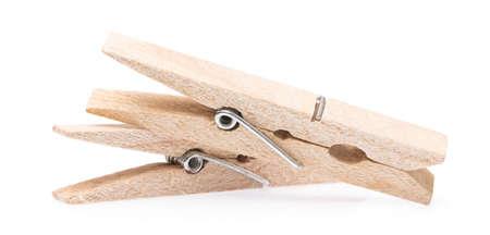 클립 나무 clothespin 흰색 배경에 고립 된 스톡 콘텐츠
