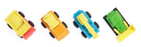 niño parado: Rubber eraser car isolated on white background Foto de archivo