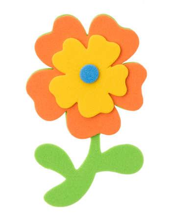 flower eva foam for decoration isolated on white background. Stock Photo