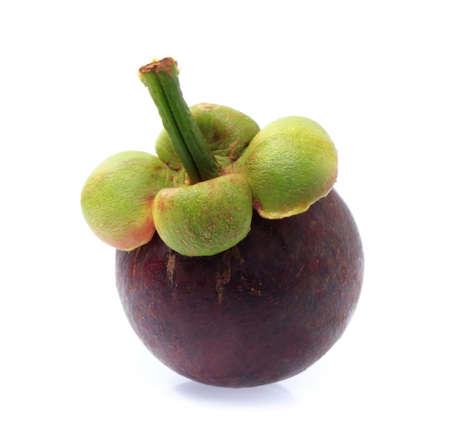 mangosteen fruit isolated on white background