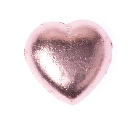 Chocolate heart isolated on a white background
