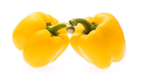 Sweet Yellow Bell Pepper isolated on white background