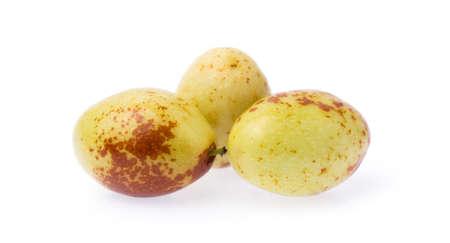 Fresh chinese jujube isolated on white background. Reklamní fotografie