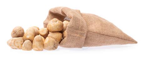 sack of mushroom isolated on white background 版權商用圖片