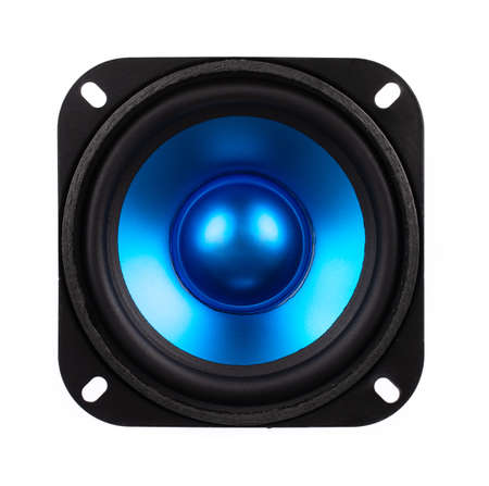 Blue Speaker isolated on white background