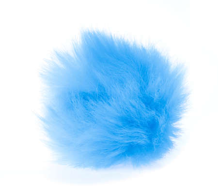 Fur ball isolated on white background Stock Photo