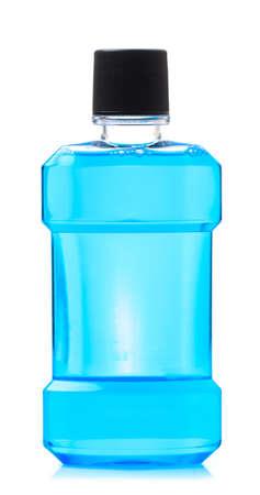 water mouthwash isolate on white background