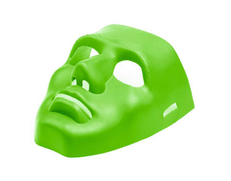Green masks isolated on white background