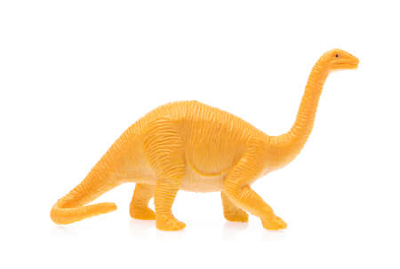toy small dinosaur isolated on white background Stock Photo