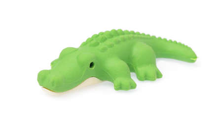 crocodile eraser isolated on white background
