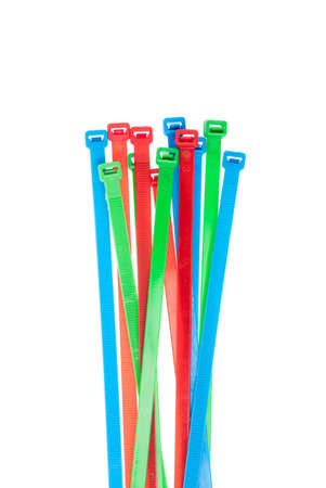 cable ties isolated on white background