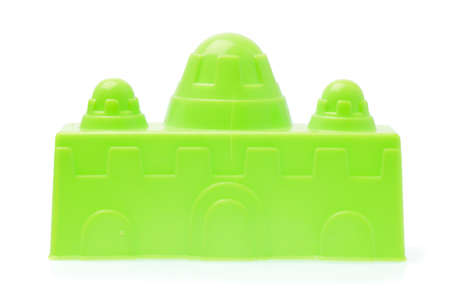 plasstic Castle of beach toys isolated on white background Reklamní fotografie
