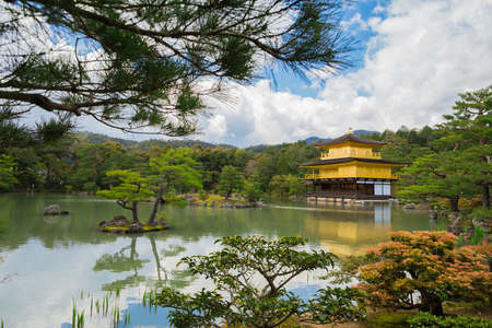 Kinkakuji Temple (The Golden Pavilion) in Kyoto, Japan Editorial