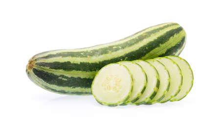 Slice of cucumber isolated on white background Stock Photo
