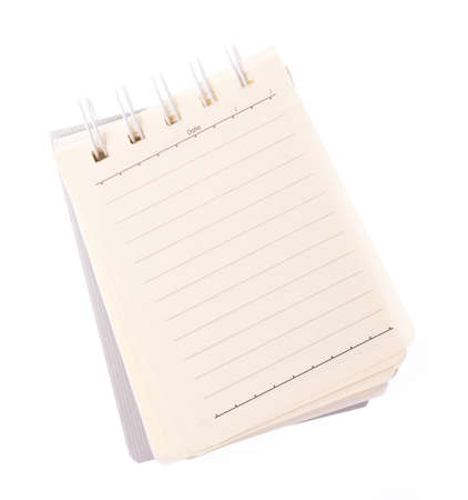 note book isolated on white background
