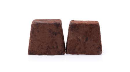 chocolate truffles against isolated on white background Reklamní fotografie