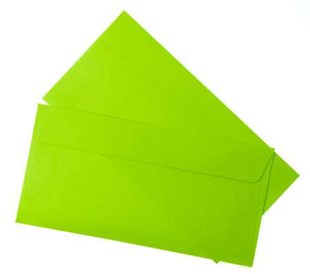 green envelope isolated on white background.